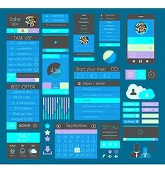 UI Flat Design Elements for Web Infographics vector image