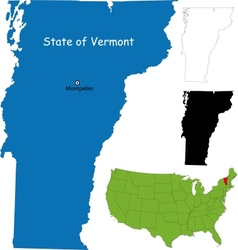Vermont map vector image