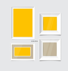 White modern frames on the wall vector image