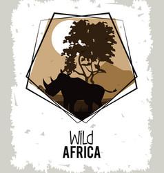 wild africa animals vector image
