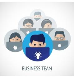 Business team emblem vector image