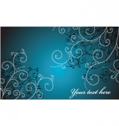floral art background vector image vector image