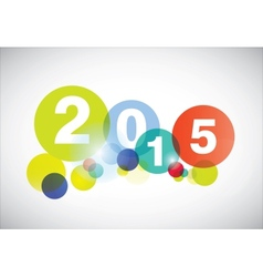 Happy new year 2015 card vector image vector image