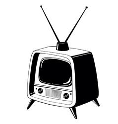 tv137 vector image