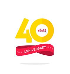 40 years anniversary logo 40th anniversary icon vector image