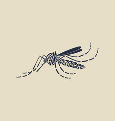 aedes aegypti mosquitoes logo icon vector image vector image