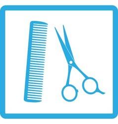 blue sign of barbershop vector image vector image
