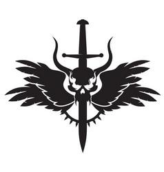 dark emblem vector image vector image