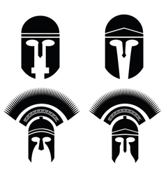 roman and greek helmets vector image