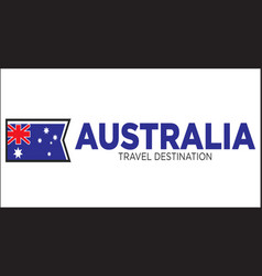 australia travel sign vector image vector image