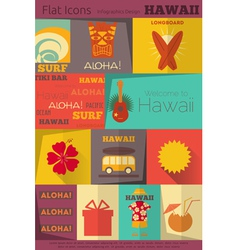 Hawaii Surf Retro vector image vector image