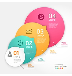 Infographics business steb vector image vector image