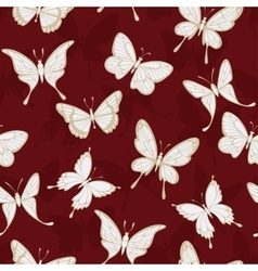 Seamless patterns with butterflies vector image vector image