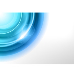 background blue light corner round vector image vector image