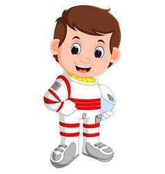 Cute astronaut cartoon vector
