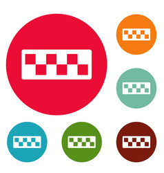 taxi cab icons circle set vector image