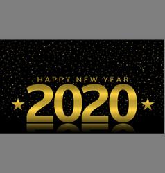 2020 happy new year vector image