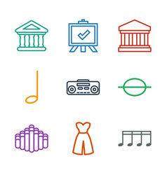 9 classic icons vector