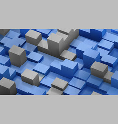 abstract background of cubes and parallelepipeds vector image