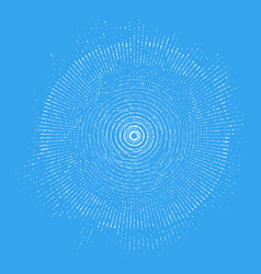 Abstract blue sphere of particles vector