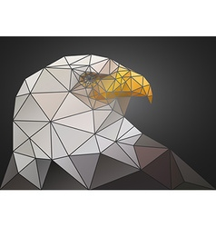 Abstract polygonal triangle bald eagle Geometric vector
