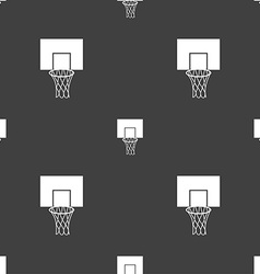 Basketball backboard icon sign Seamless pattern on vector image