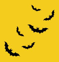 Bat icon shadow for halloween event marketing vector