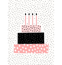 Birthday Cake Greeting Card Design vector image