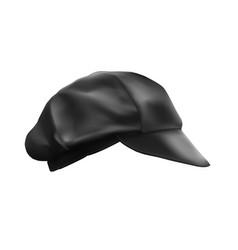 Black cap for a cook bartender worker vector