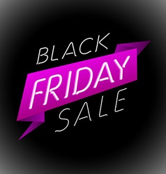 Black friday sale design template label vector image