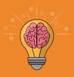 Brain bulb idea creativity innovation vector