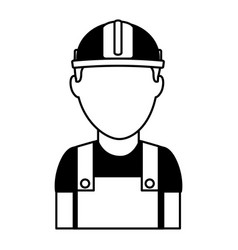 Builder construction avatar icon vector