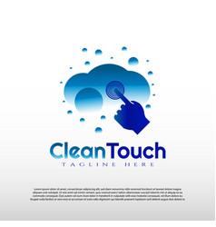 Clean touch logo design element vector