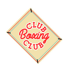 color vintage boxing club emblem vector image