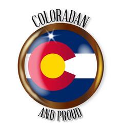 Colorado proud flag button vector