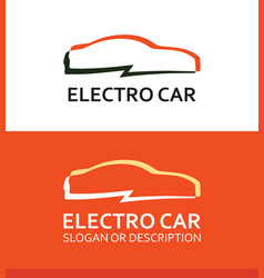 Colorful logo of electro car vector