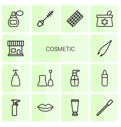 Cosmetic icons vector