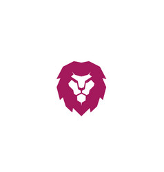 creative red lion head logo vector image