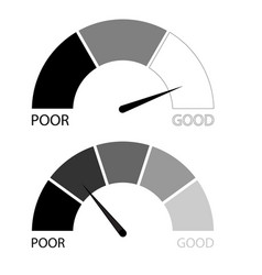 Credit rating scale set vector