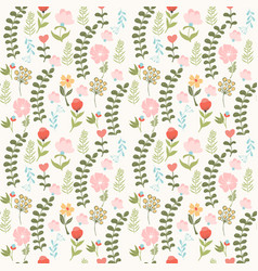 Cute floral background in vintage style vector