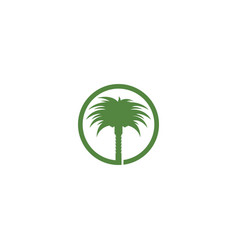 Date palm logo vector