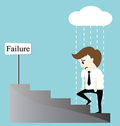 Depression bankruptcy unemployed sadness hopeless vector