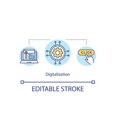 digitalization concept icon vector image