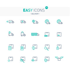 Easy icons 37e delivery vector