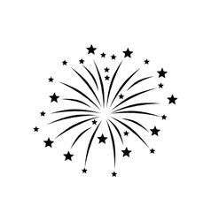 Fireworks display on white vector