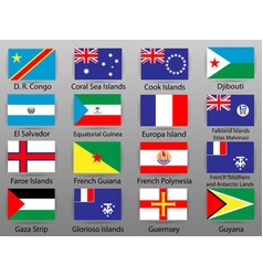 flags of all countries of the world part 13 vector image