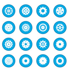 gear icon blue vector image