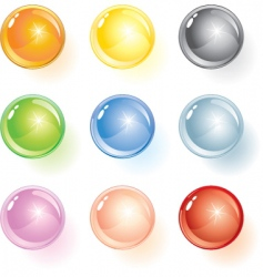Glossy ball vector