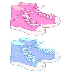 Gumshoes colorful vector