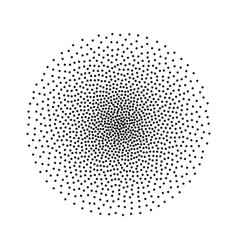 Halftone stipple circle dotted monochrome vector
